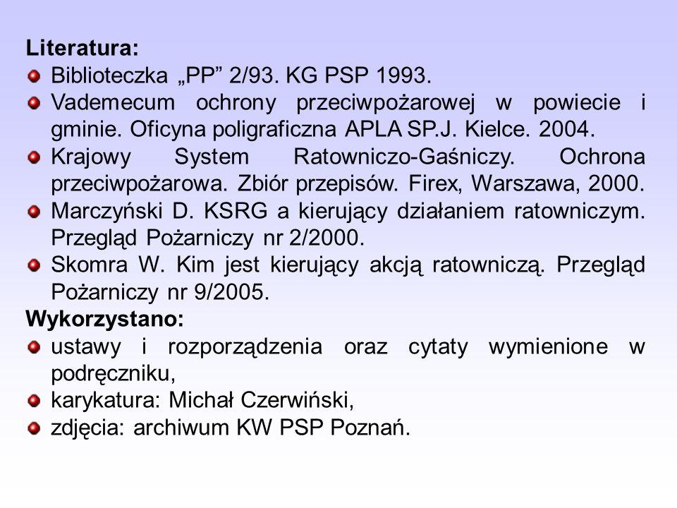 """Literatura: Biblioteczka """"PP 2/93. KG PSP 1993."""
