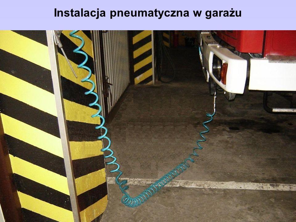 Instalacja pneumatyczna w garażu