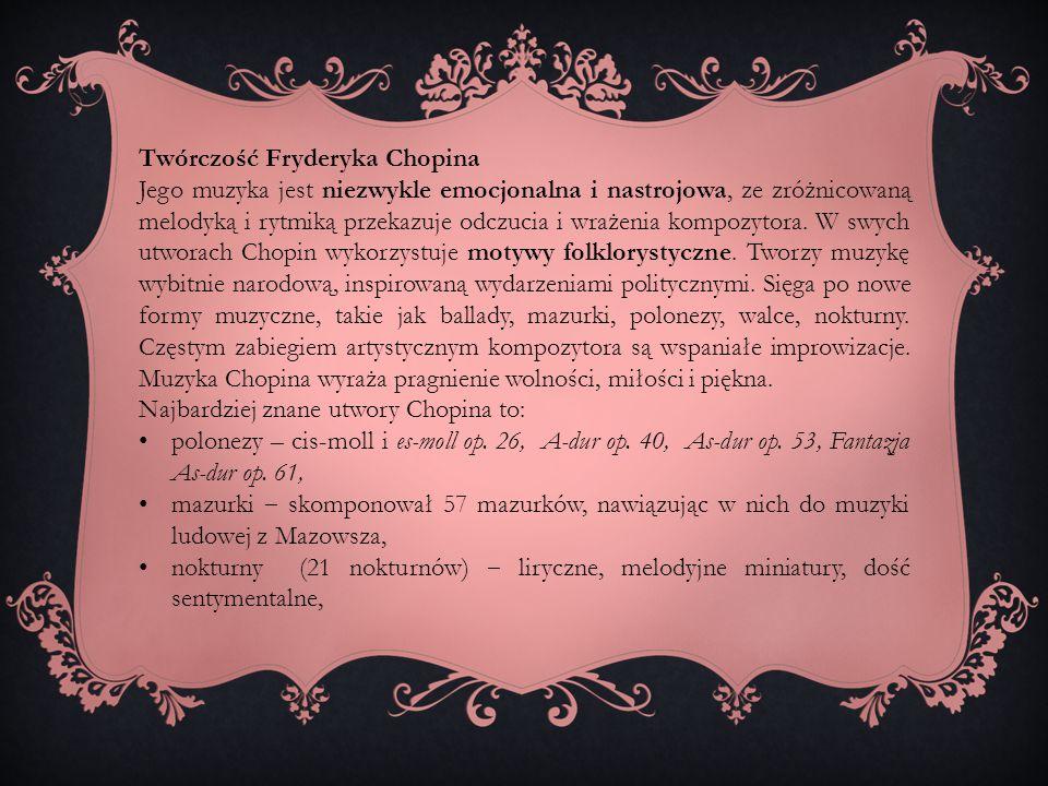 Twórczość Fryderyka Chopina