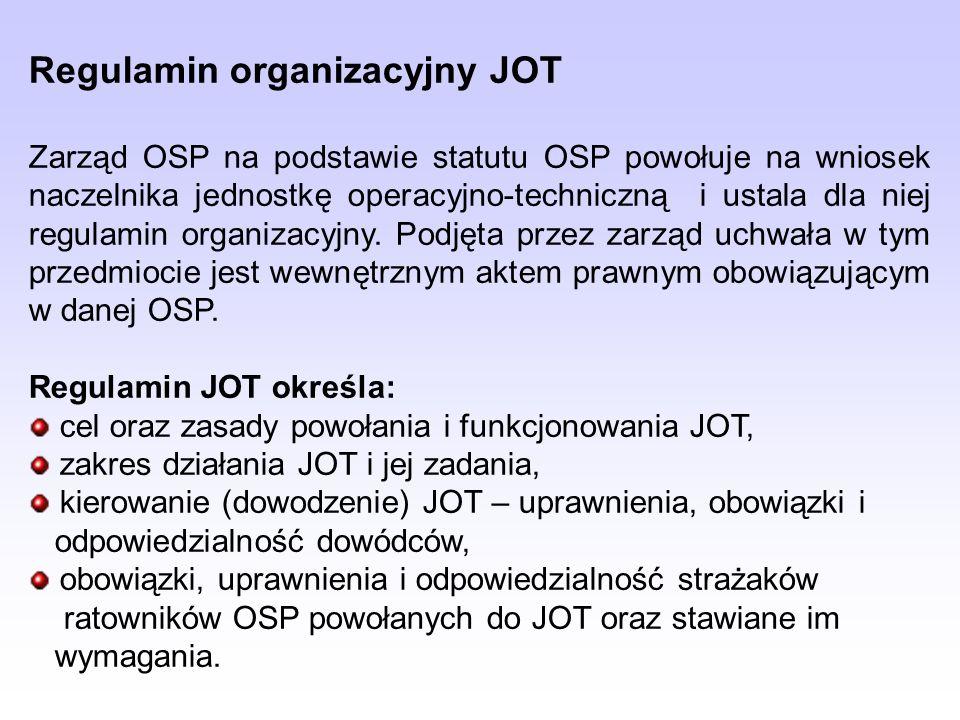 Regulamin organizacyjny JOT