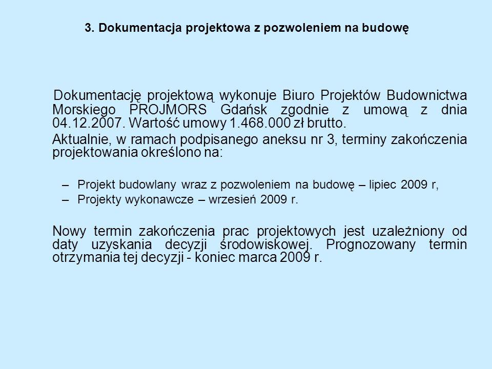 3. Dokumentacja projektowa z pozwoleniem na budowę