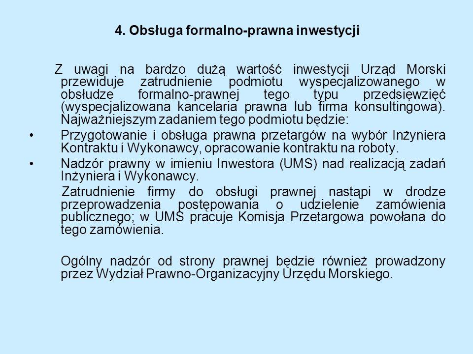 4. Obsługa formalno-prawna inwestycji