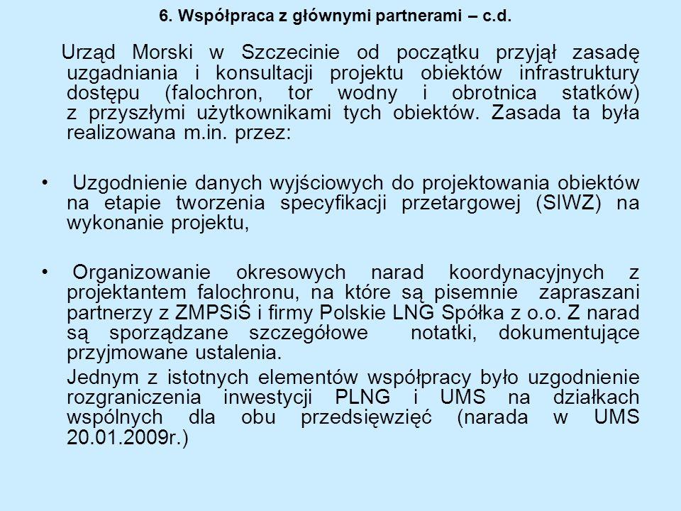 6. Współpraca z głównymi partnerami – c.d.