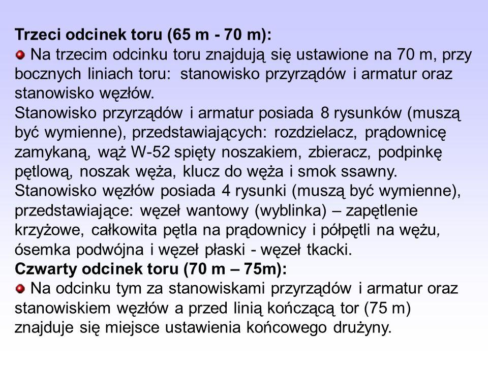 Trzeci odcinek toru (65 m - 70 m):