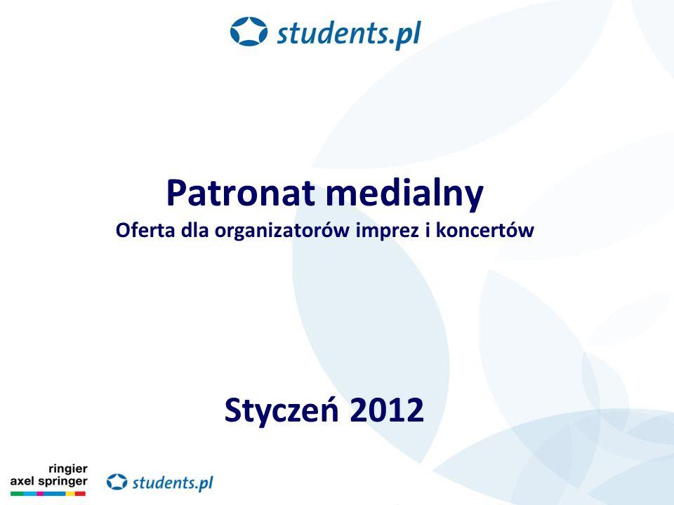 Patronat medialny Oferta dla organizatorów imprez i koncertów