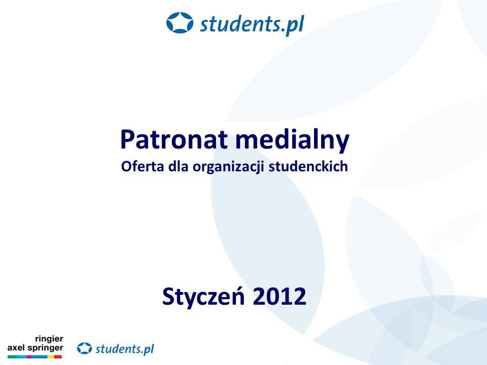 Patronat medialny Oferta dla organizacji studenckich