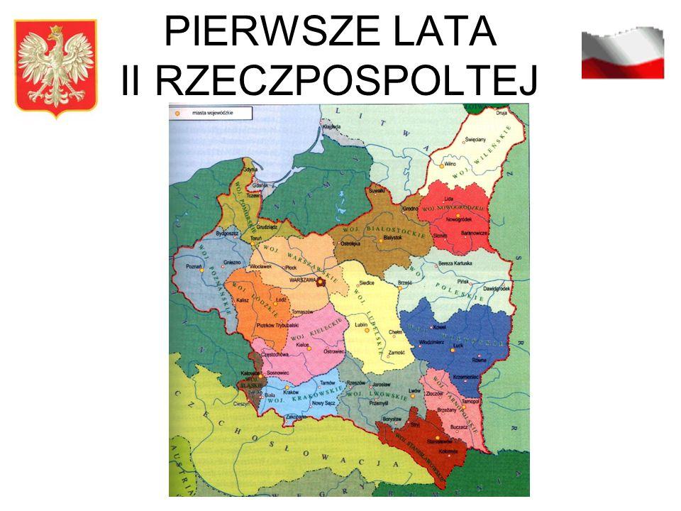 PIERWSZE LATA II RZECZPOSPOLTEJ