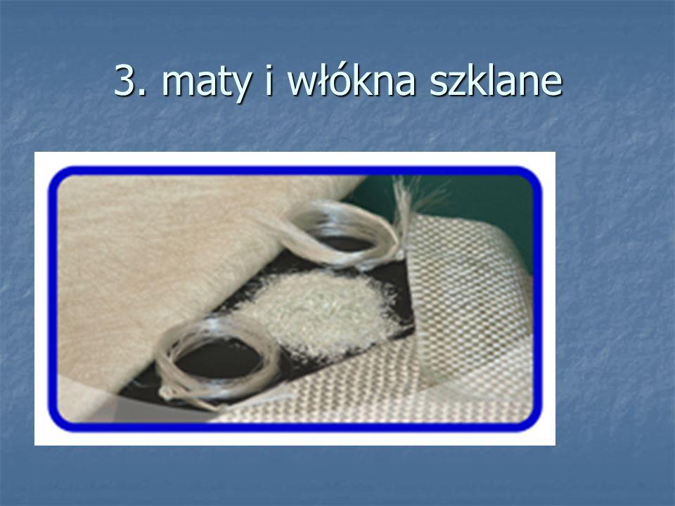 3. maty i włókna szklane