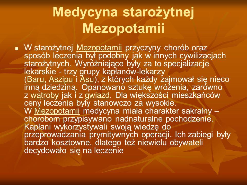 Medycyna starożytnej Mezopotamii