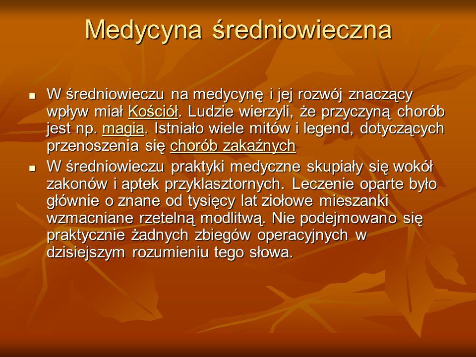 Medycyna średniowieczna