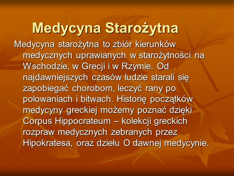 Medycyna Starożytna