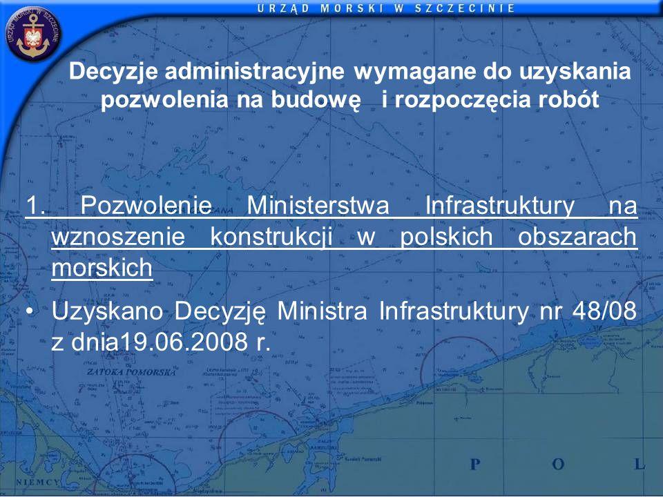 Uzyskano Decyzję Ministra Infrastruktury nr 48/08 z dnia19.06.2008 r.