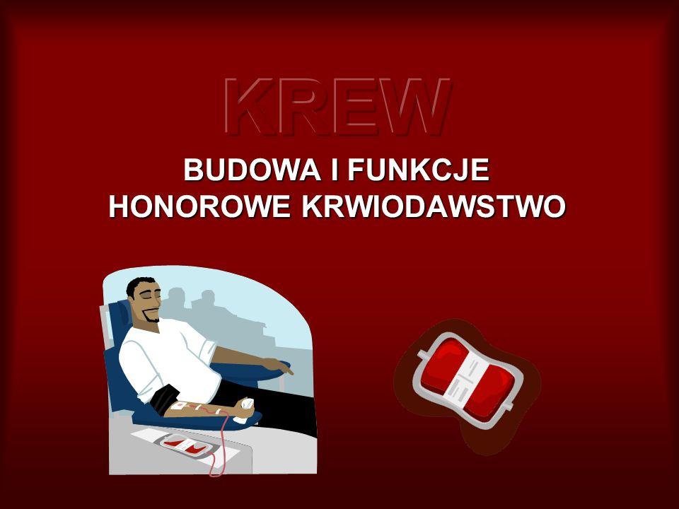 KREW BUDOWA I FUNKCJE HONOROWE KRWIODAWSTWO