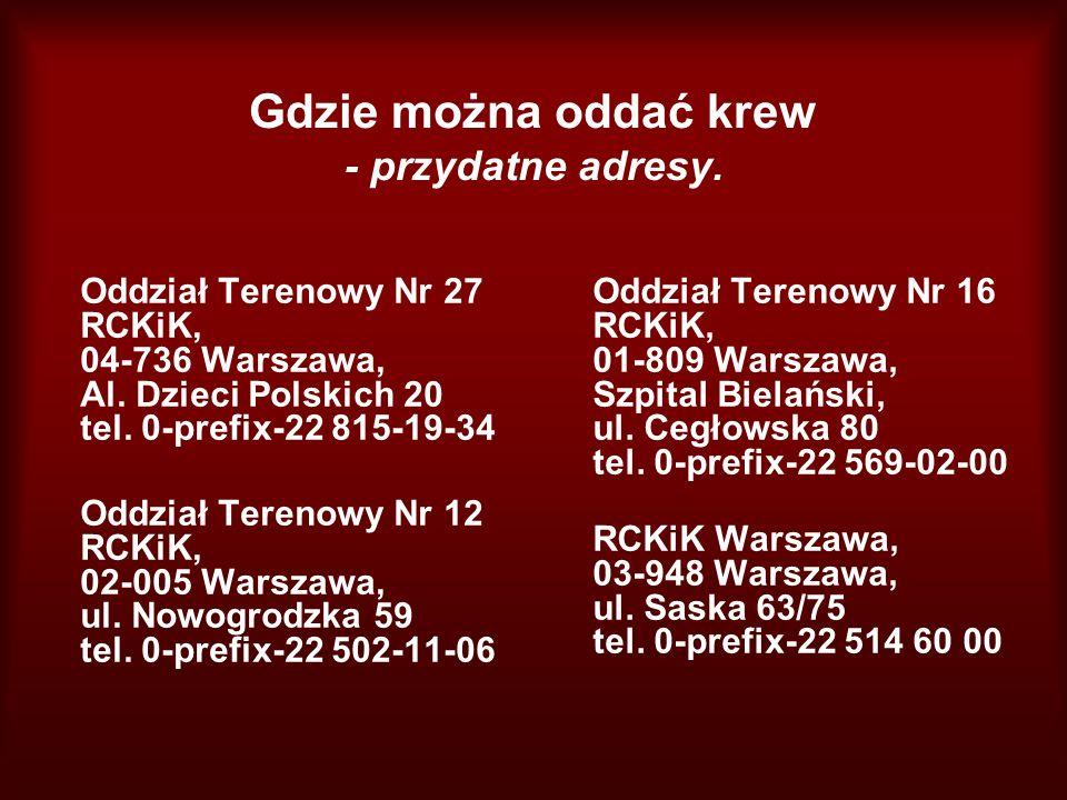 Gdzie można oddać krew - przydatne adresy.