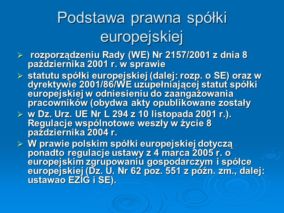 Podstawa prawna spółki europejskiej