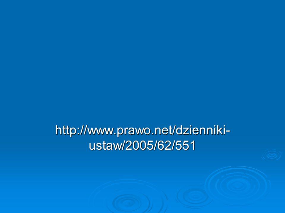 http://www.prawo.net/dzienniki-ustaw/2005/62/551