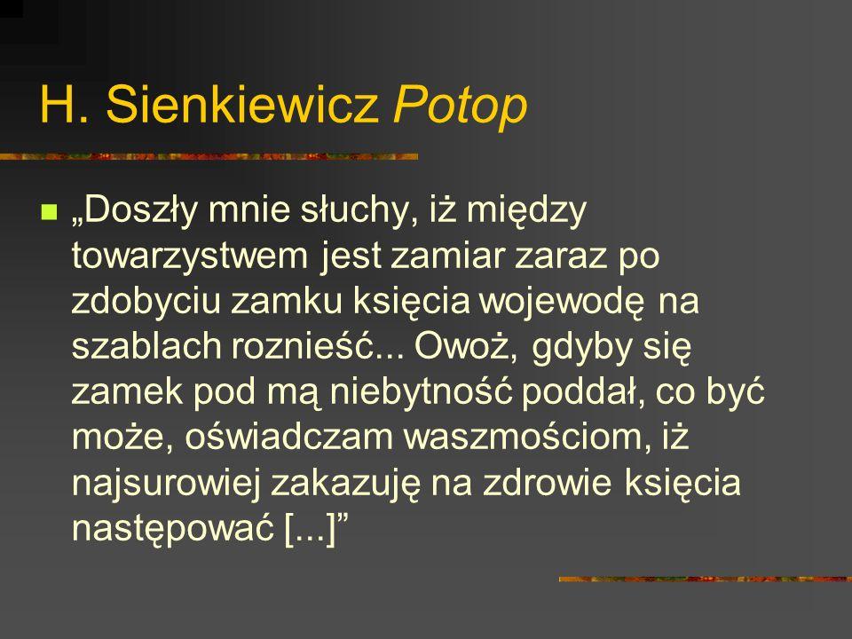 H. Sienkiewicz Potop