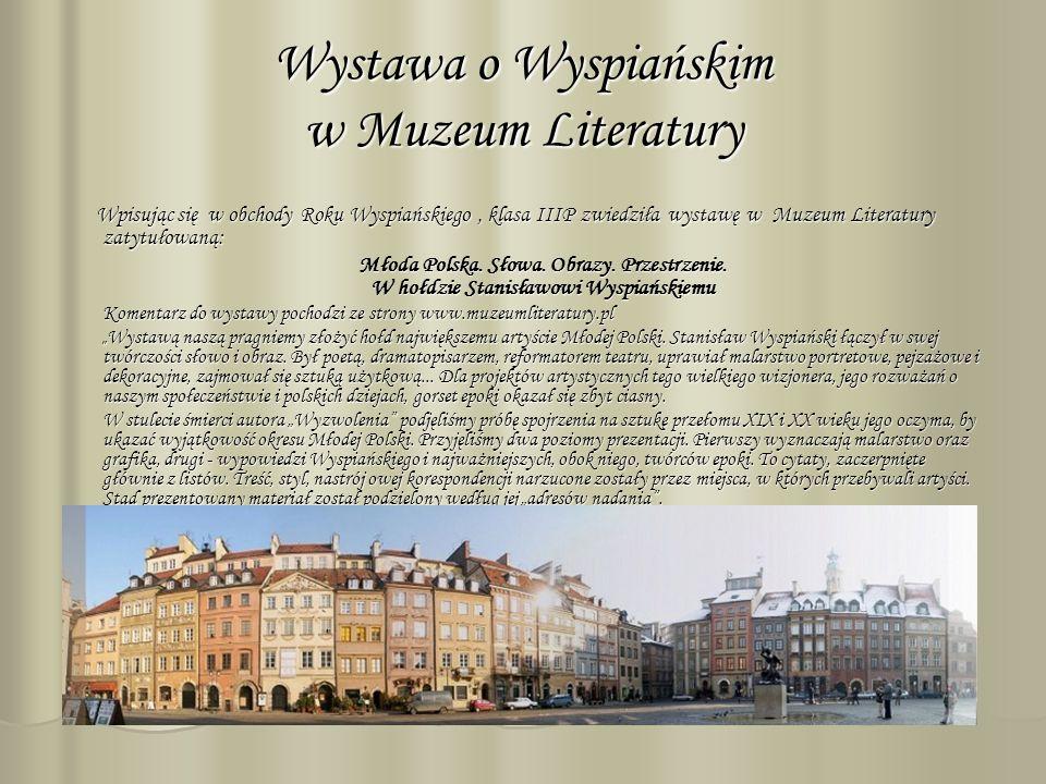 Wystawa o Wyspiańskim w Muzeum Literatury
