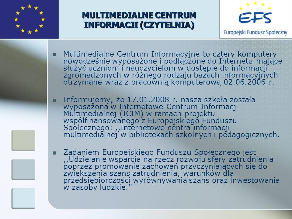 MULTIMEDIALNE CENTRUM INFORMACJI (CZYTELNIA)