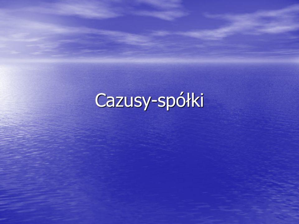 Cazusy-spółki