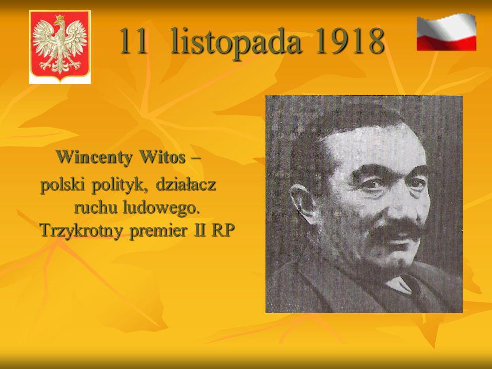 polski polityk, działacz ruchu ludowego. Trzykrotny premier II RP