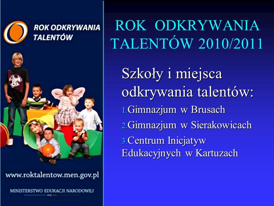 ROK ODKRYWANIA TALENTÓW 2010/2011