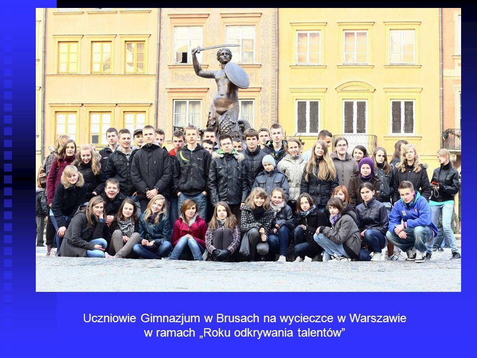 Uczniowie Gimnazjum w Brusach na wycieczce w Warszawie