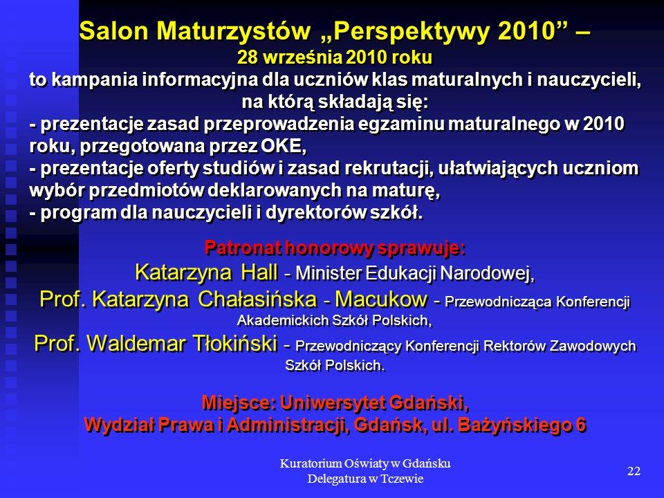 """Salon Maturzystów """"Perspektywy 2010 – 28 września 2010 roku"""