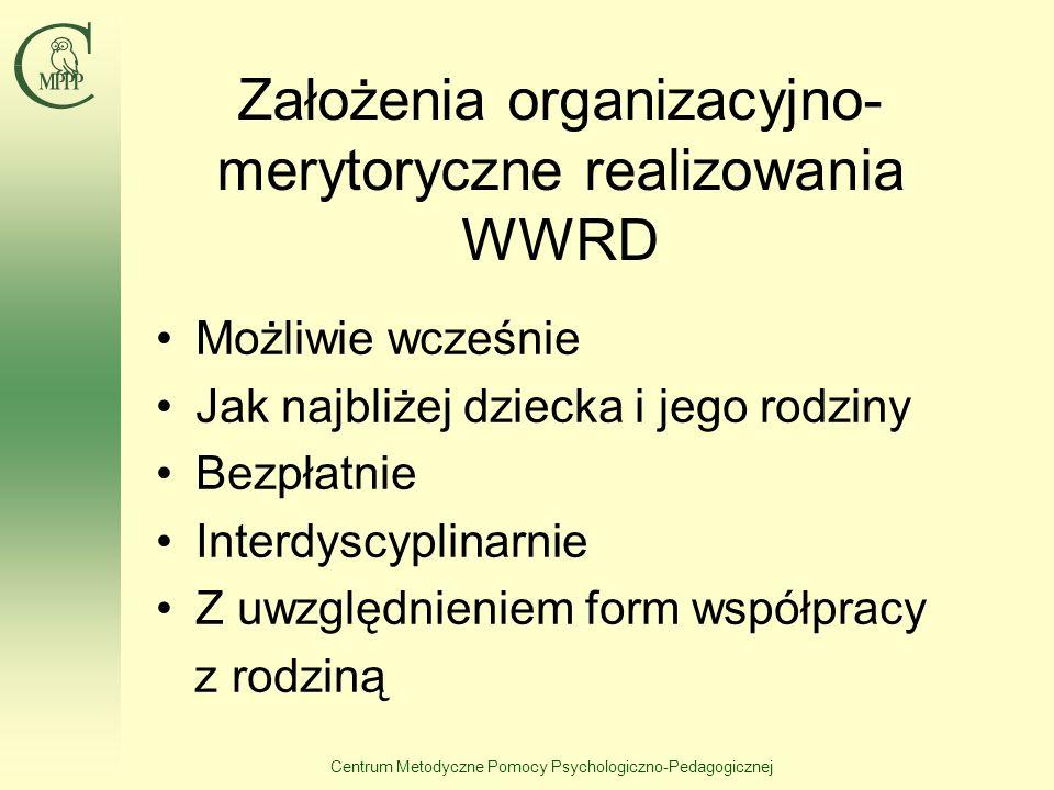 Założenia organizacyjno-merytoryczne realizowania WWRD