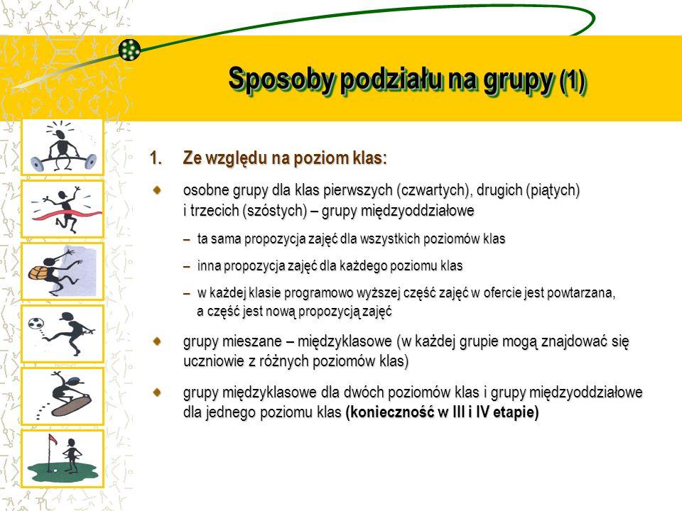 Sposoby podziału na grupy (1)