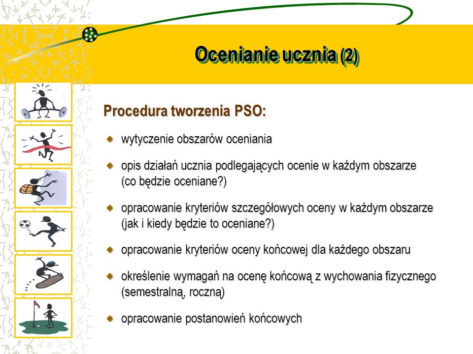 Ocenianie ucznia (2) Procedura tworzenia PSO: