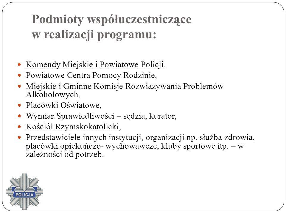 Podmioty współuczestniczące w realizacji programu: