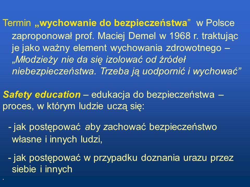 Safety education – edukacja do bezpieczeństwa –