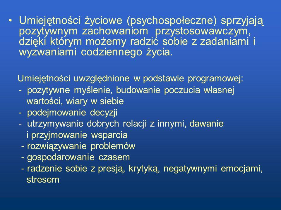 Umiejętności uwzględnione w podstawie programowej: