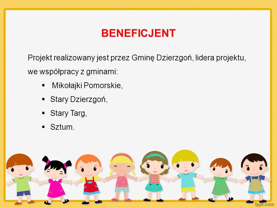BENEFICJENT Projekt realizowany jest przez Gminę Dzierzgoń, lidera projektu, we współpracy z gminami: