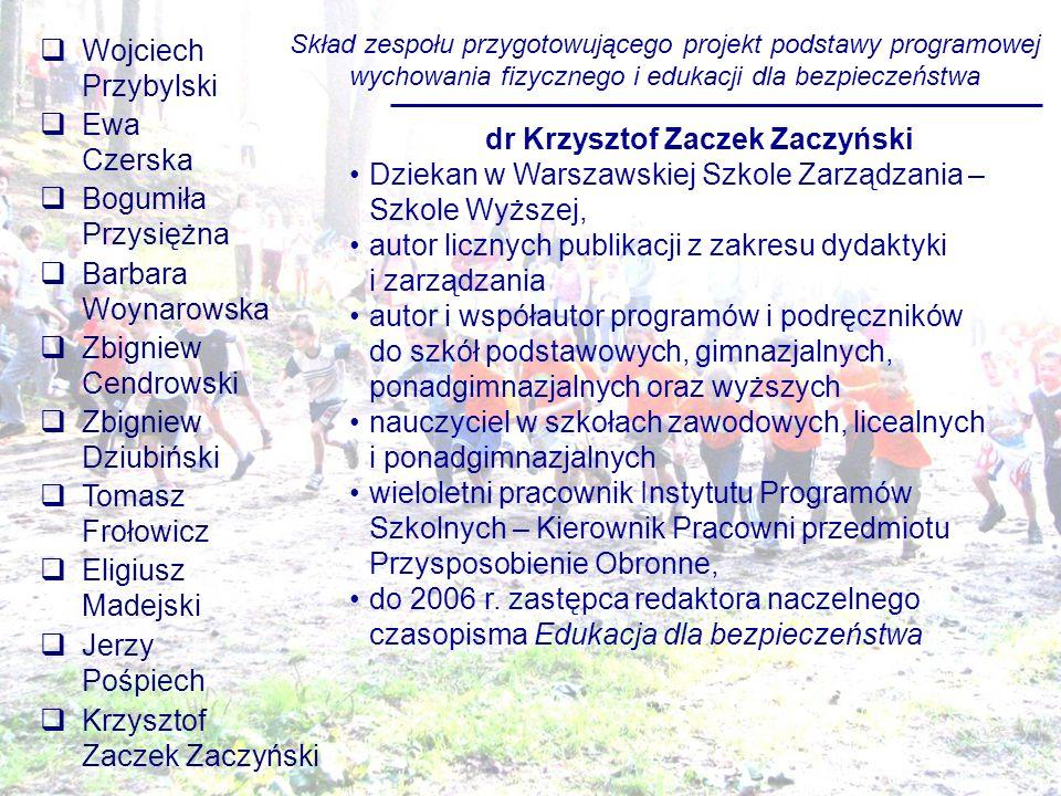 dr Krzysztof Zaczek Zaczyński