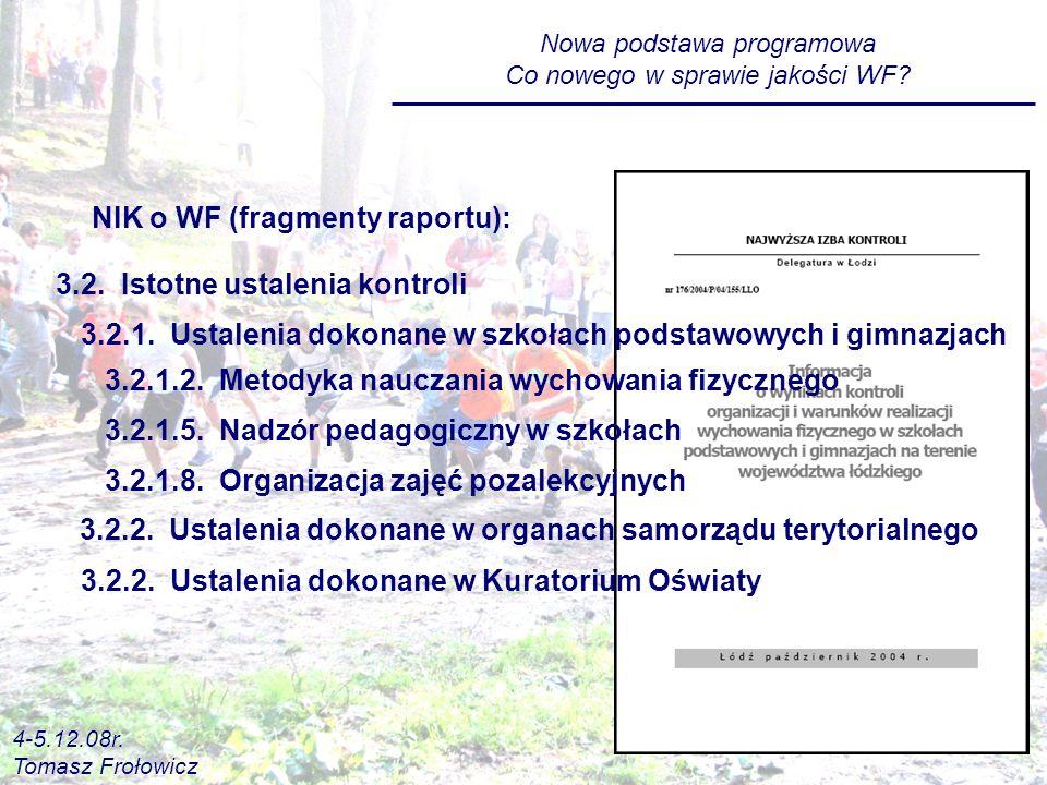 NIK o WF (fragmenty raportu):