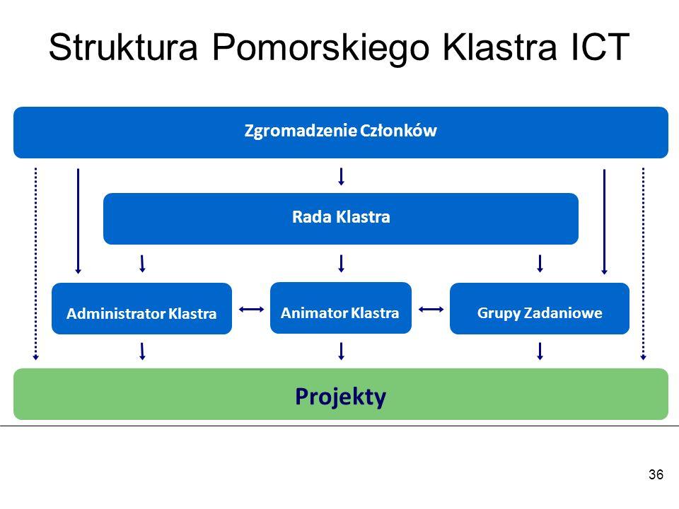 Struktura Pomorskiego Klastra ICT
