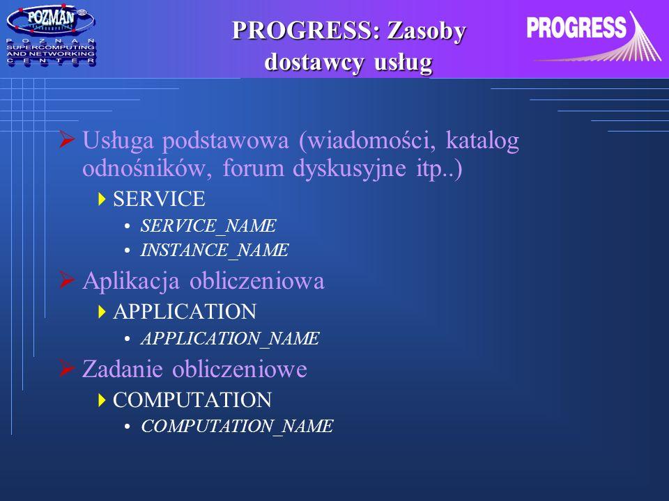 PROGRESS: Zasoby dostawcy usług