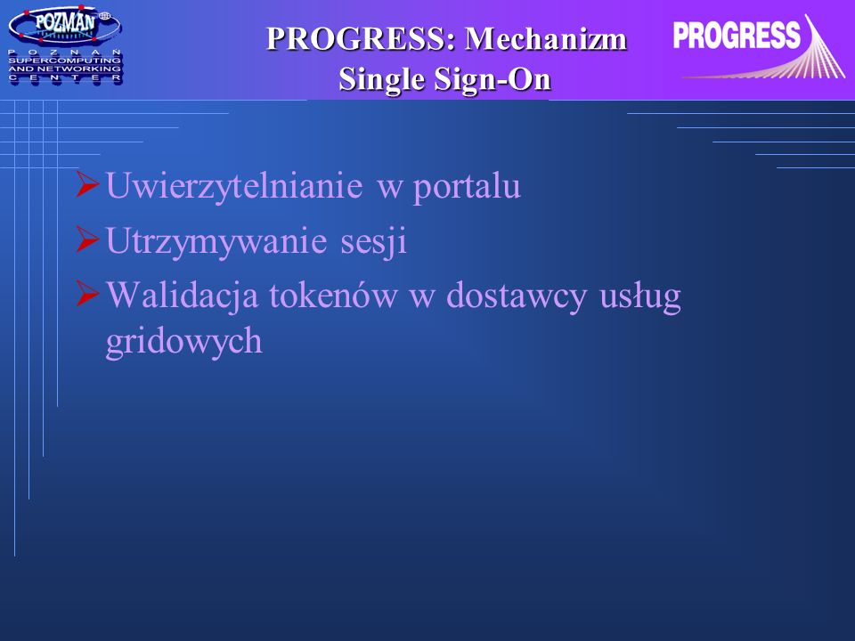 PROGRESS: Mechanizm Single Sign-On