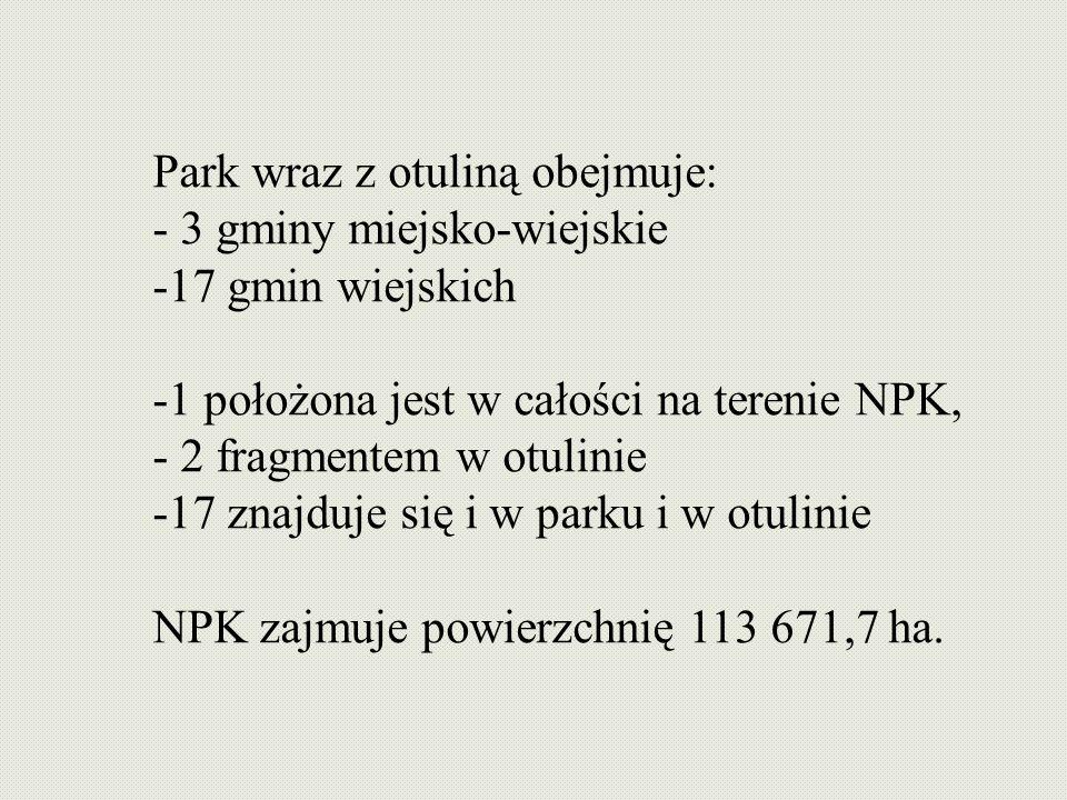 Park wraz z otuliną obejmuje: