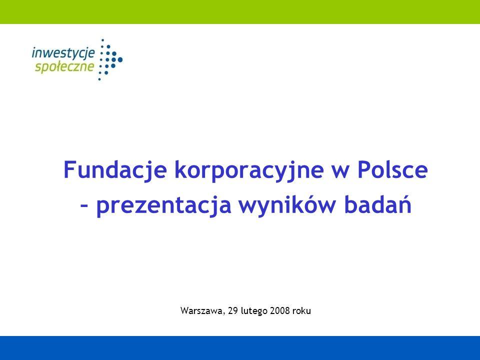 Fundacje korporacyjne w Polsce – prezentacja wyników badań