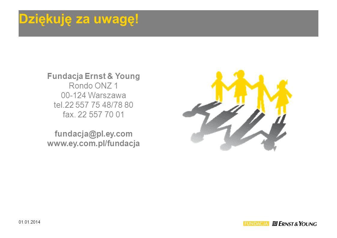 Dziękuję za uwagę! Fundacja Ernst & Young Rondo ONZ 1 00-124 Warszawa