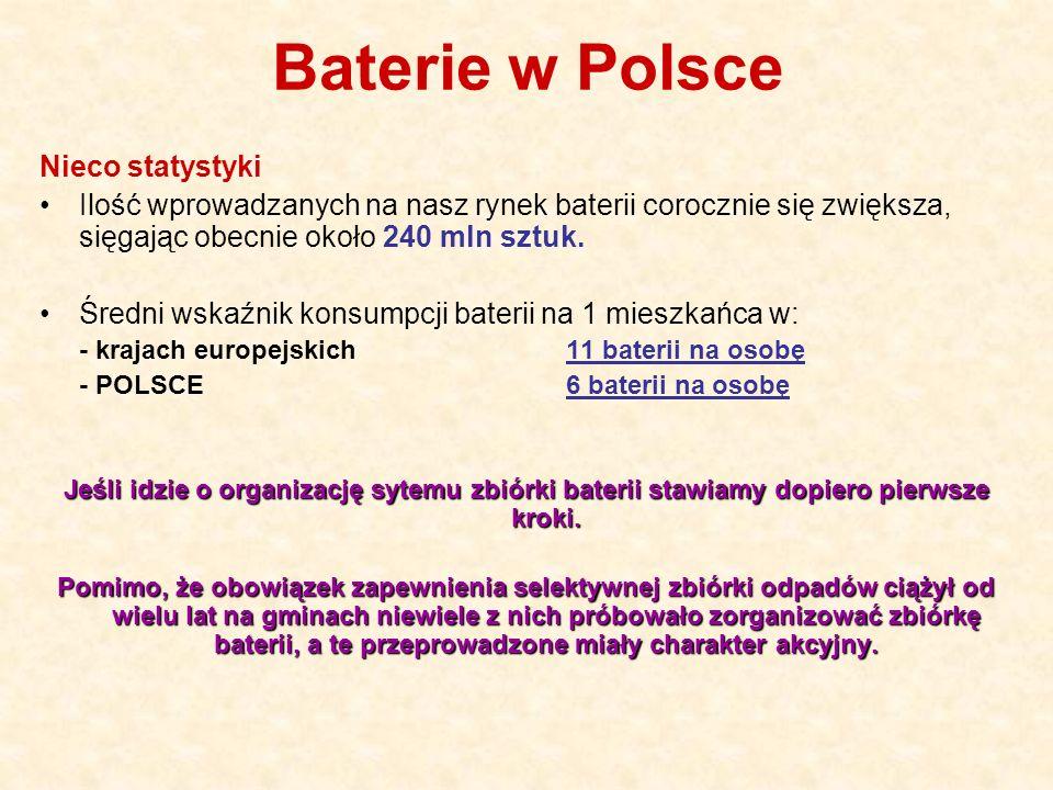 Baterie w Polsce Nieco statystyki