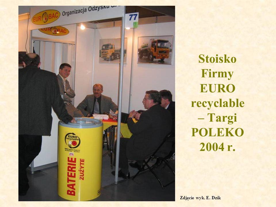 Stoisko Firmy EURO recyclable– Targi POLEKO 2004 r.