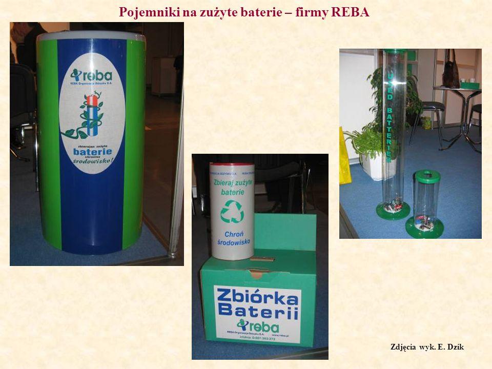 Pojemniki na zużyte baterie – firmy REBA