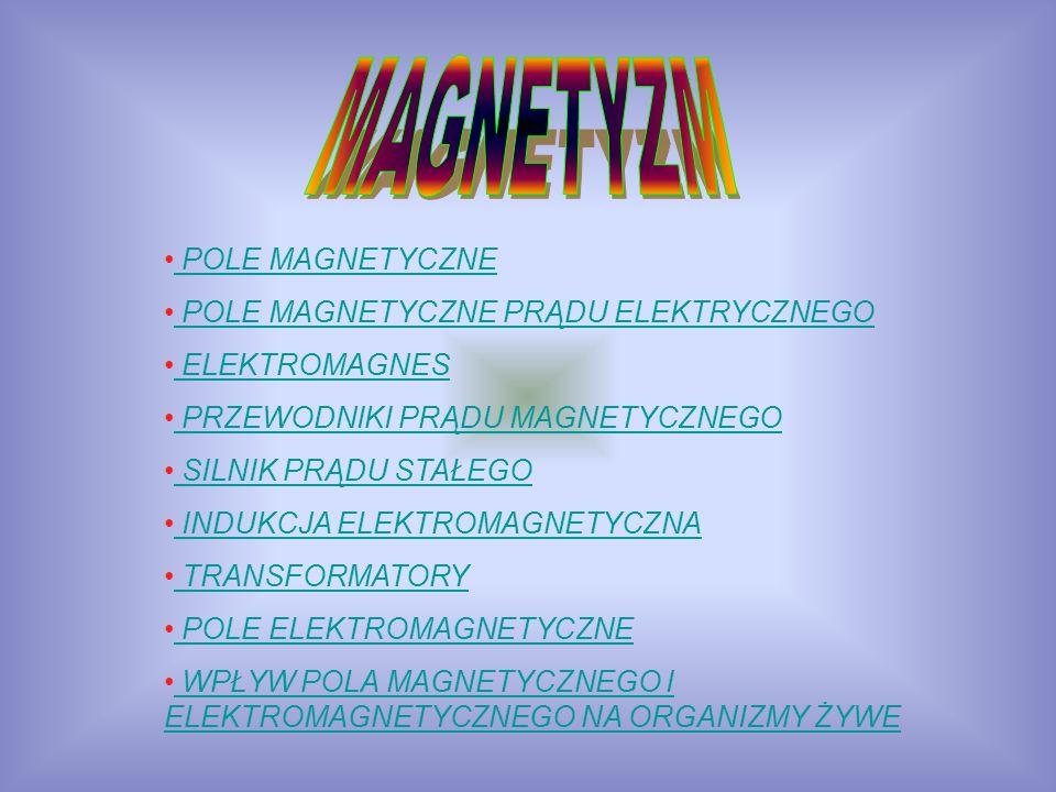 MAGNETYZM POLE MAGNETYCZNE POLE MAGNETYCZNE PRĄDU ELEKTRYCZNEGO