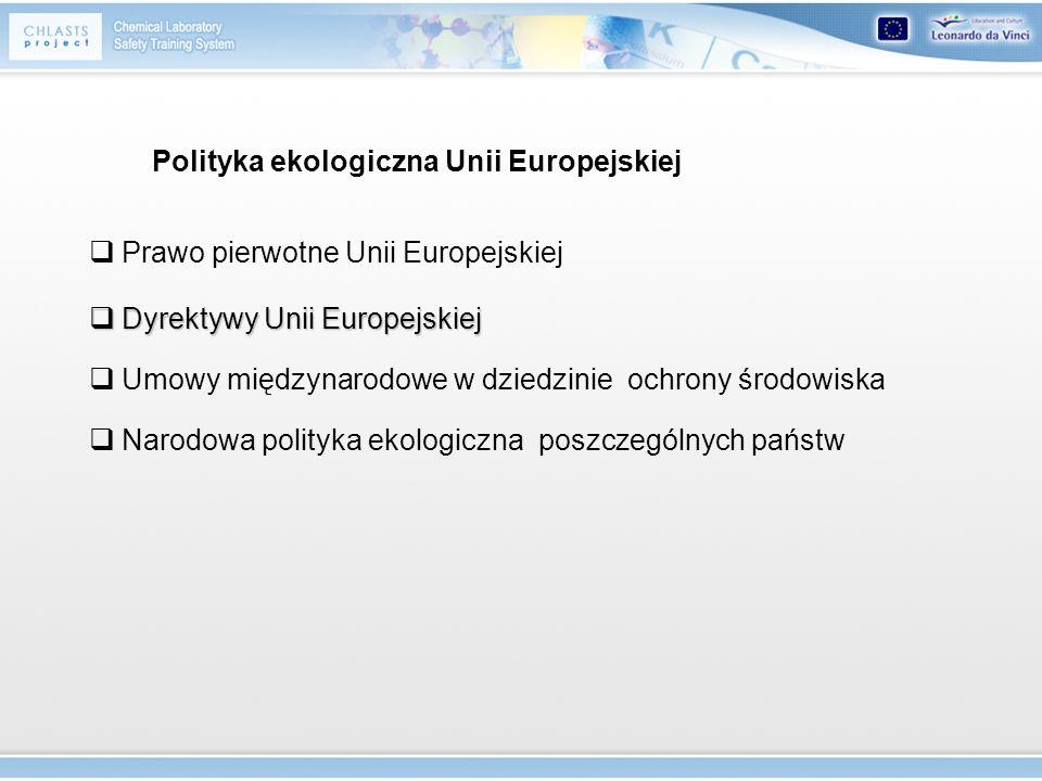 Polityka ekologiczna Unii Europejskiej