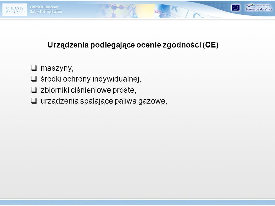 Urządzenia podlegające ocenie zgodności (CE)