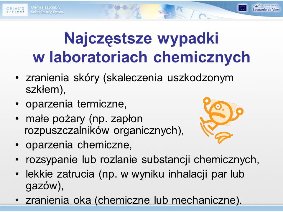 Najczęstsze wypadki w laboratoriach chemicznych